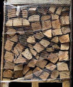 Brennholz in der Kiste