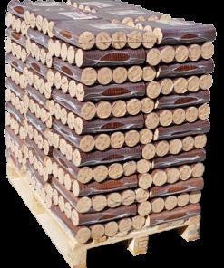 buchenbriketts auf palette