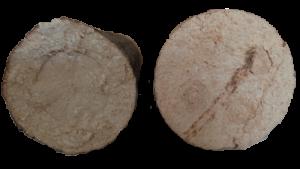 Holzbriketts mit unterschiedlichem Durchmesser