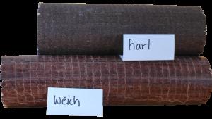 hart und weich gepresste Holzbriketts